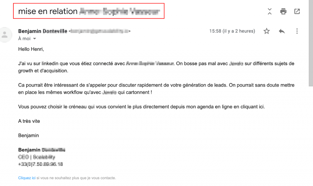 exemple email